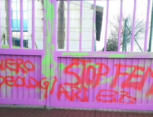 Actualidad y Noticias – Aparecen pintadas contra la igualdad en Bilbao y Zaratamo